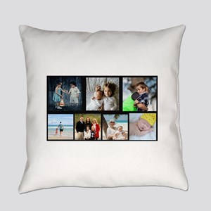 7 Photo Family Collage Everyday Pillow
